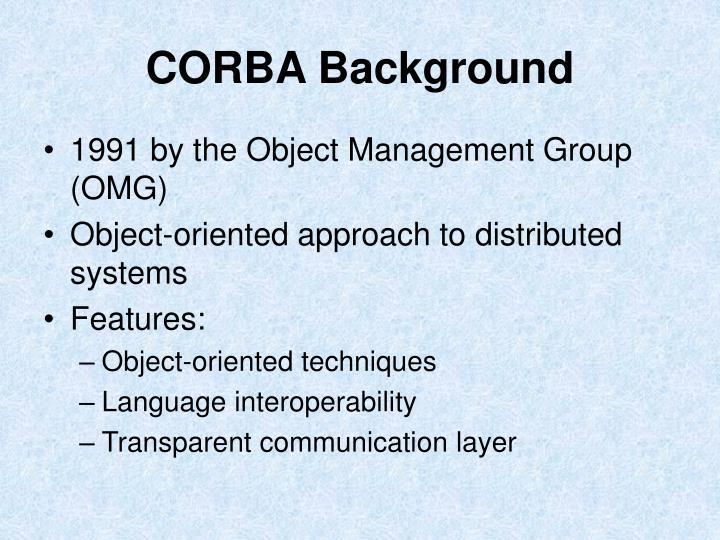 CORBA Background