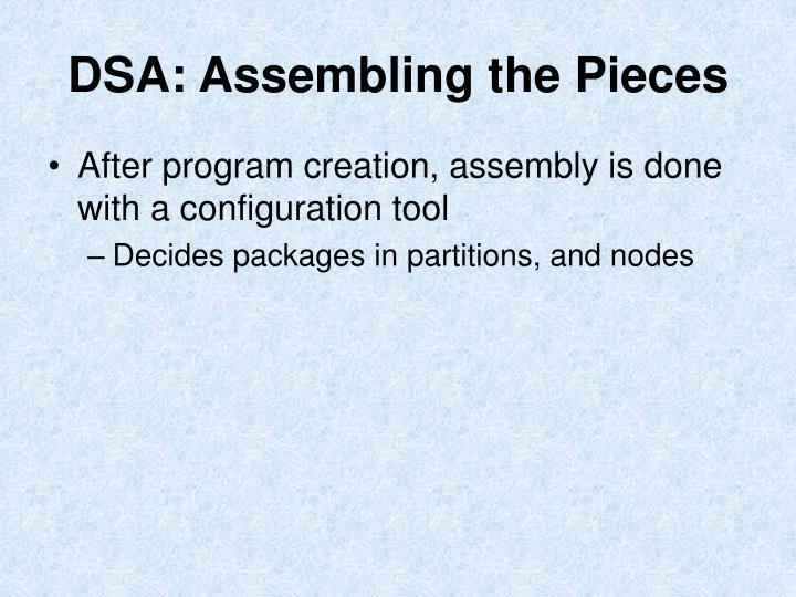 DSA: Assembling the Pieces