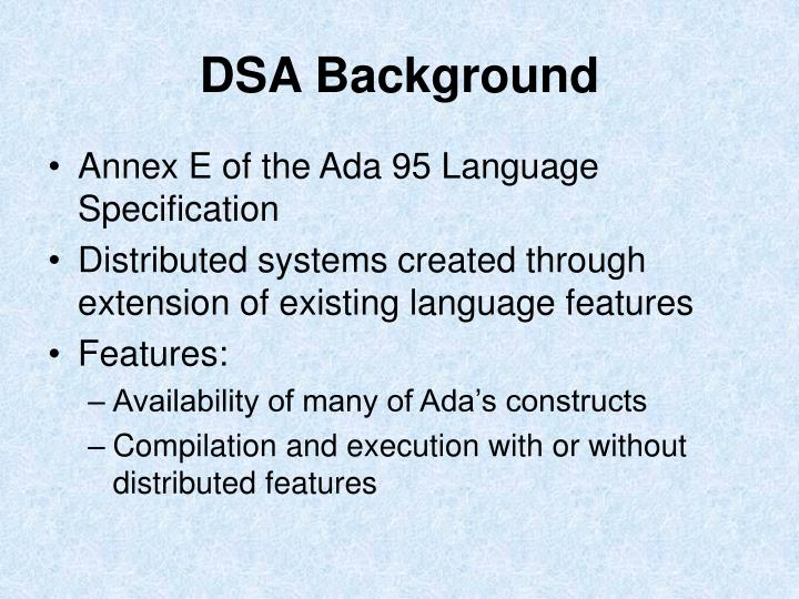 DSA Background