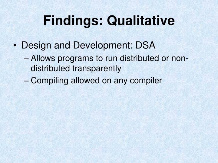 Findings: Qualitative
