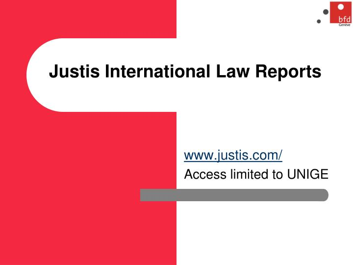 Justis International Law Reports