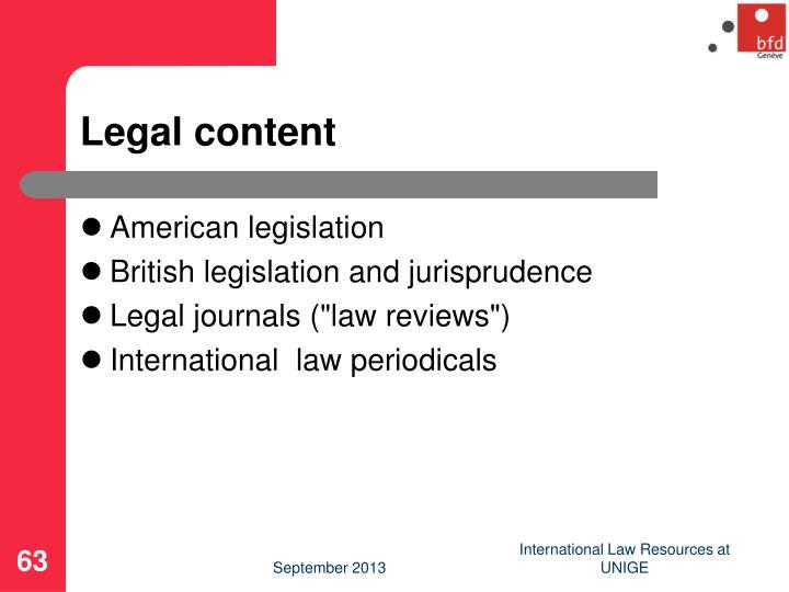 Legal content