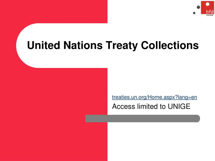 United Nations Treaty Collections
