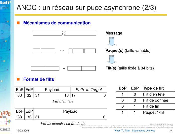 ANOC : un réseau sur puce asynchrone (2/3)