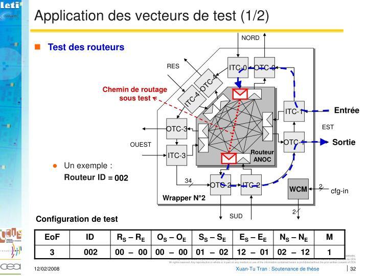 Application des vecteurs de test (1/2)