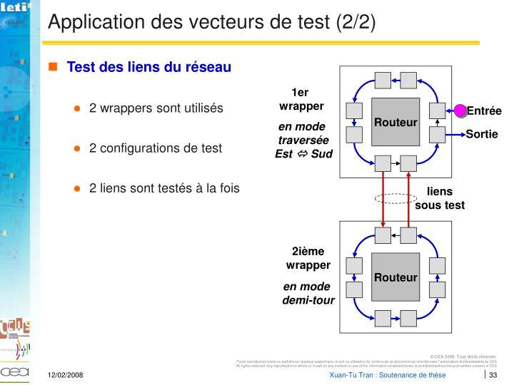 Application des vecteurs de test (2/2)