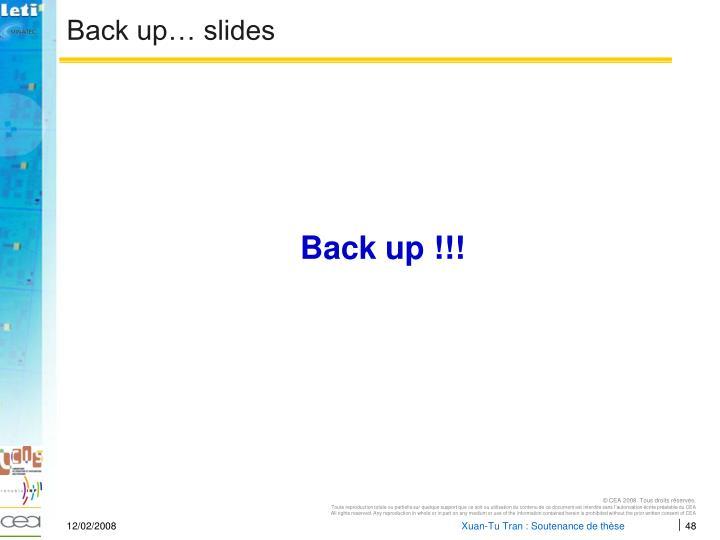 Back up… slides