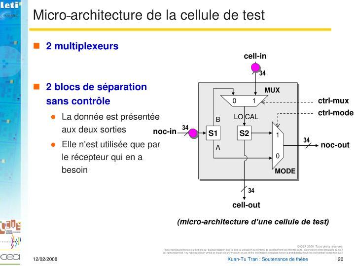 Micro architecture de la cellule de test