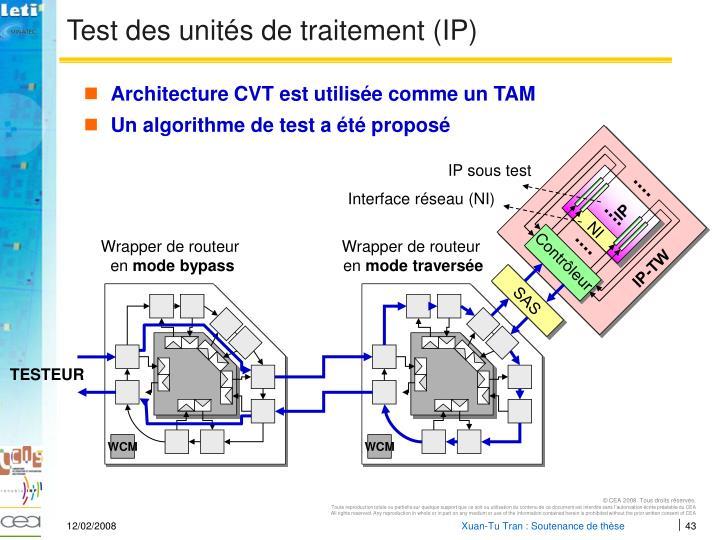 Test des unités de traitement (IP)