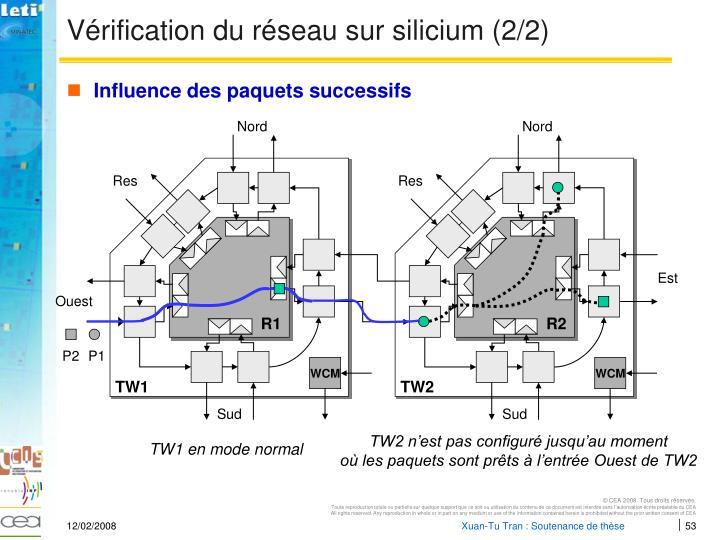 Vérification du réseau sur silicium (2/2)