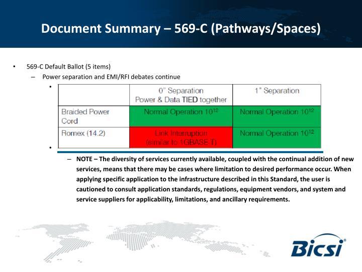Document Summary – 569-C (Pathways/Spaces)