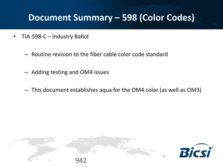 Document Summary – 598 (Color Codes)