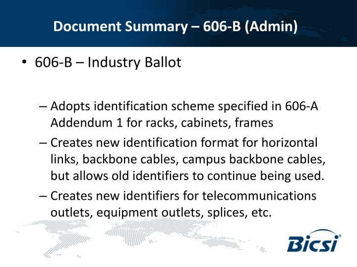 Document Summary – 606-B (Admin)
