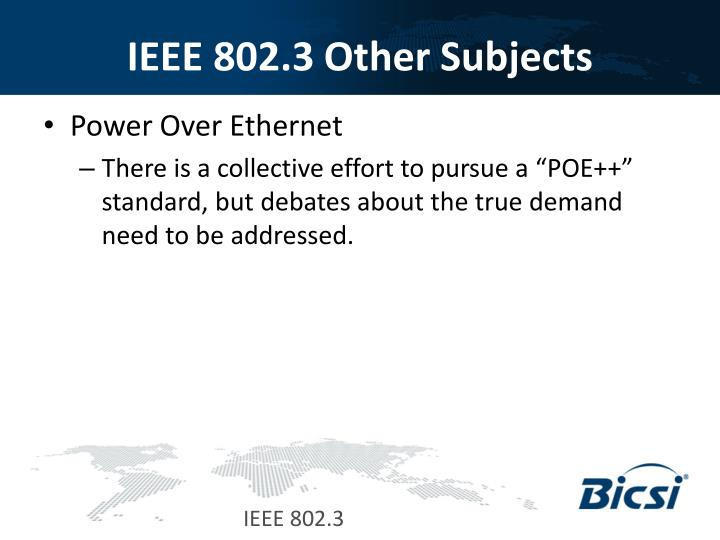 IEEE 802.3 Other Subjects