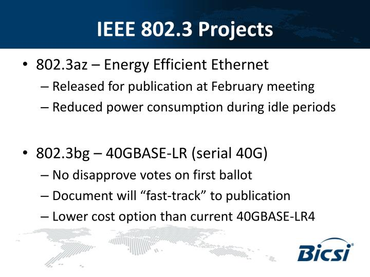 IEEE 802.3 Projects