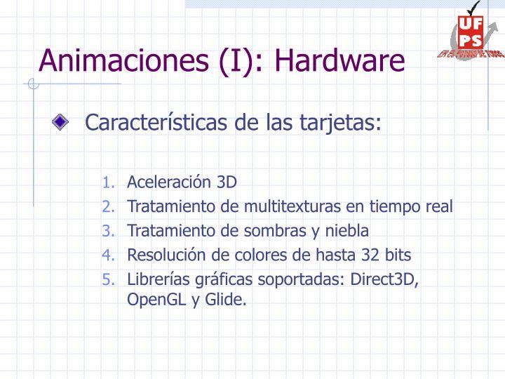 Animaciones (I): Hardware