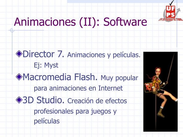 Animaciones (II): Software