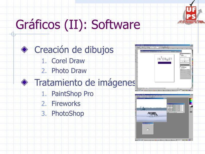 Gráficos (II): Software