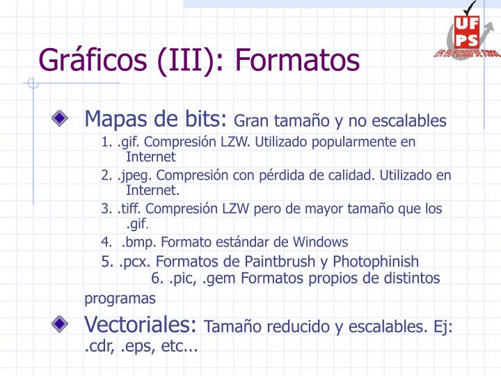 Gráficos (III): Formatos