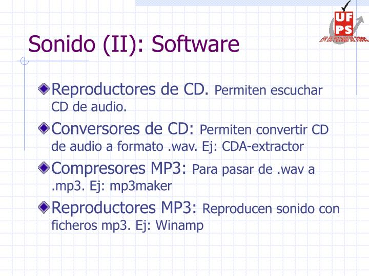 Sonido (II): Software