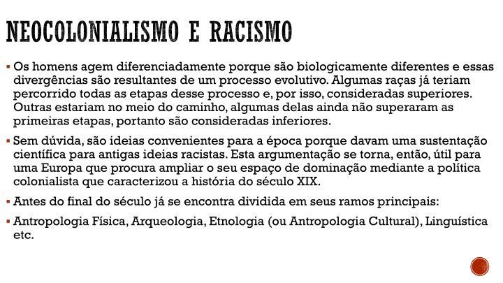 Neocolonialismo e racismo