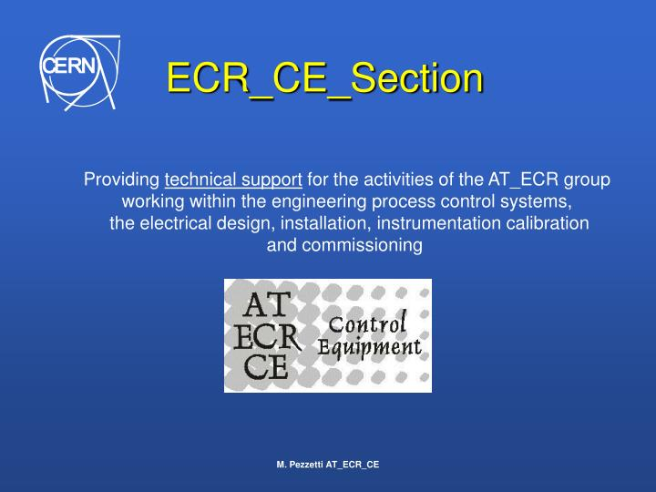 Ecr ce section