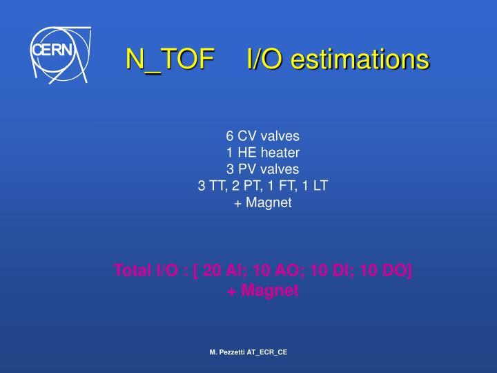 N_TOF    I/O estimations
