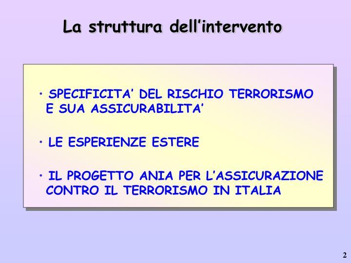 La struttura dell'intervento