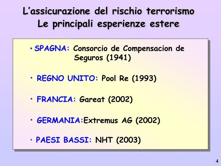 L'assicurazione del rischio terrorismo