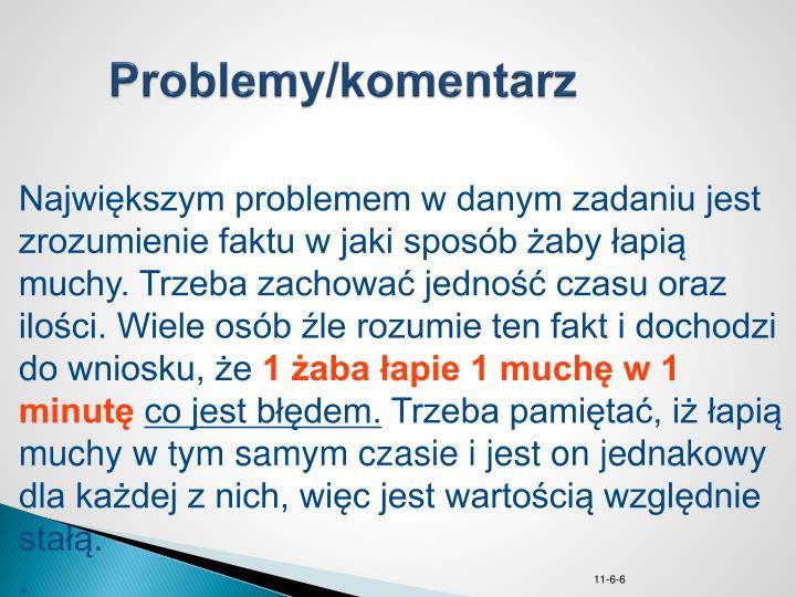 Problemy/komentarz