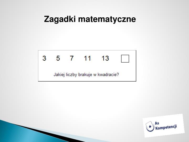 Zagadki matematyczne