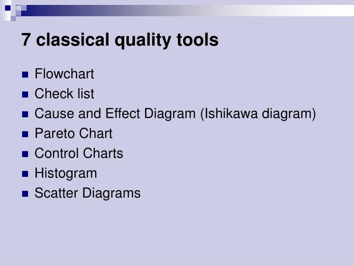 7 classical quality tools