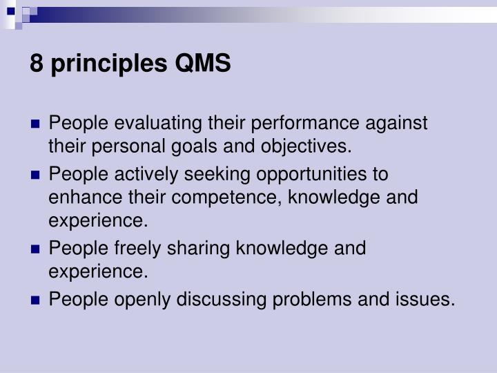 8 principles QMS