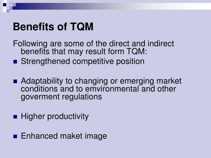 Benefits of TQM