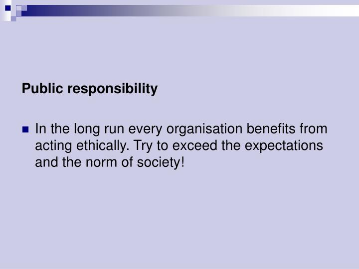 Public responsibility