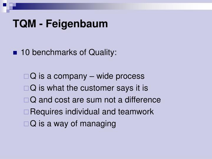 TQM - Feigenbaum