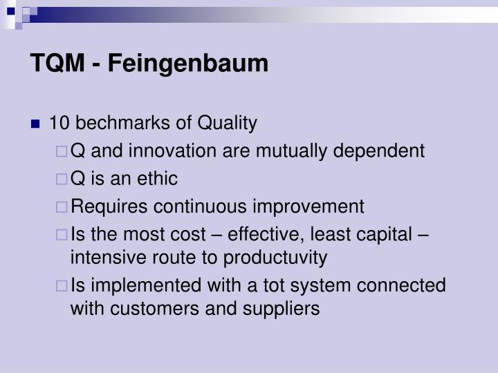 TQM - Feingenbaum