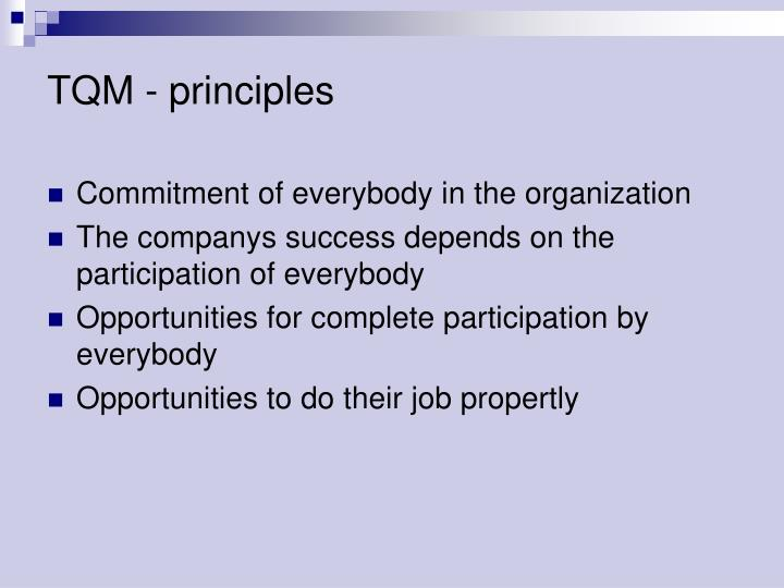 TQM - principles