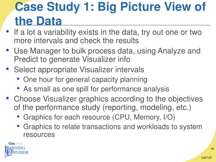 Case Study 1: Big Picture View of the Data