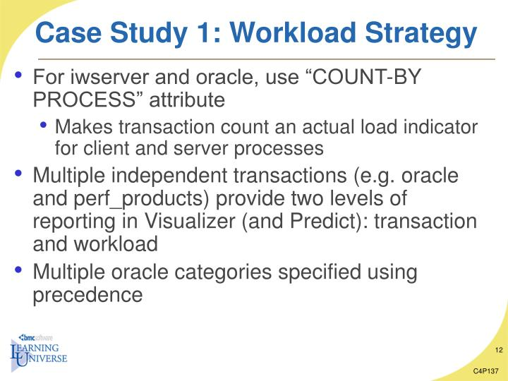 Case Study 1: Workload Strategy