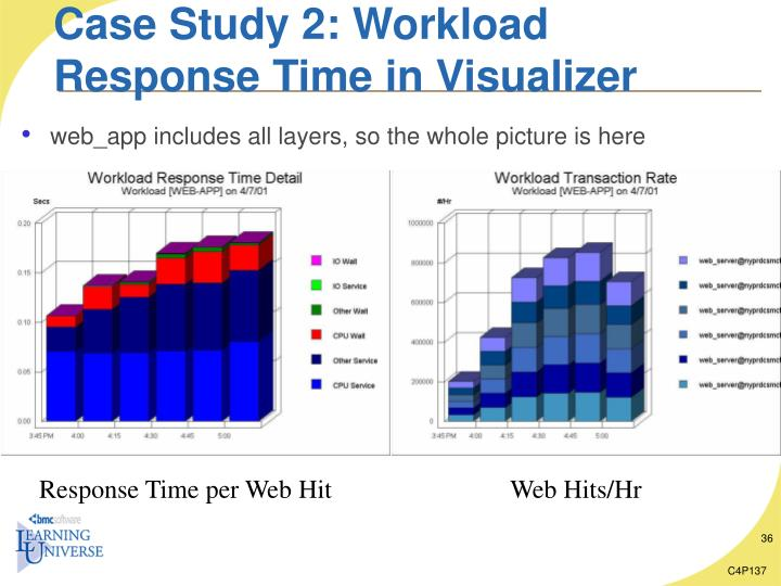 Case Study 2: Workload Response Time in Visualizer