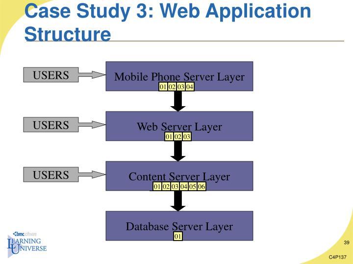 Case Study 3: Web Application Structure