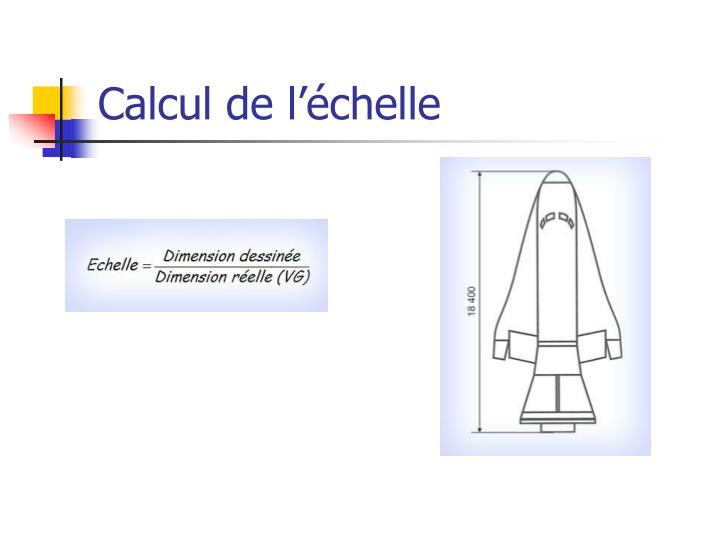 Calcul de l'échelle