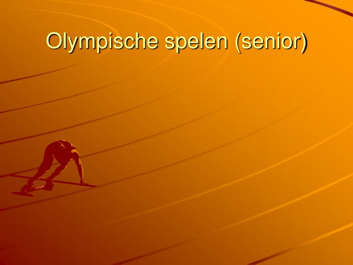 Olympische spelen (senior)