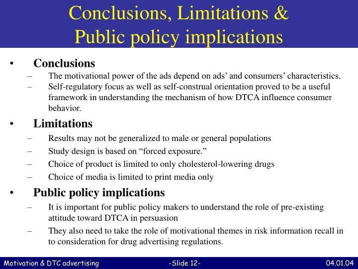 Conclusions, Limitations &