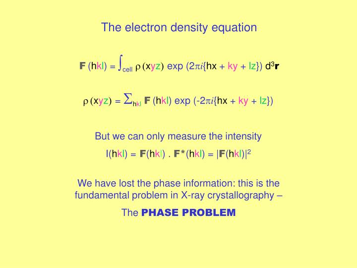 Electron density equation