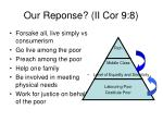 our reponse ii cor 9 8