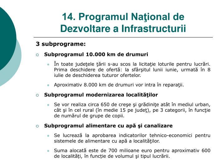 3 subprograme: