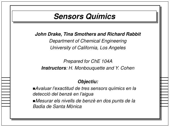 Sensors Químics