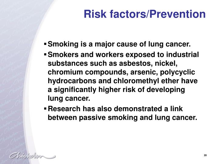 Risk factors/Prevention